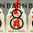 the book cover for Barn 8 featuring a drawing of a chicken's head