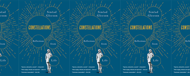 side by side series of the cover of Gleeson's Constellations