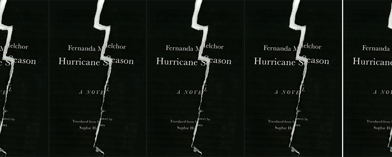 side by side series of the cover of Hurricane Season