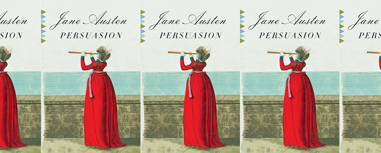 side by side series of the cover of Austen's Persuasion
