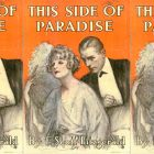 side by side series of the cover of F. Scott Fitzgerald's This Side of Paradise