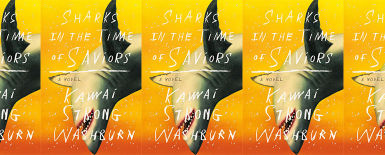 side by side series of the cover of Sharks in the Time of Saviors