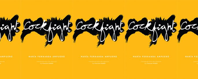 side by side series of the cover of Maria Fernanda Ampuero's Cockfight
