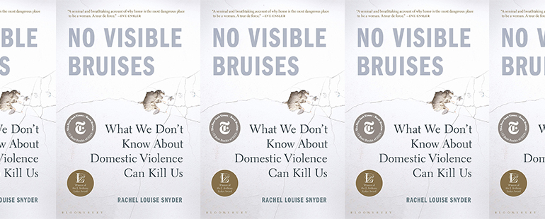 side by side series of the cover of Snyder's No Visible Bruises