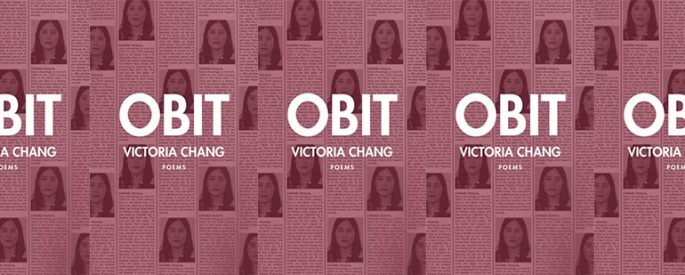 side by side series of the cover of Victoria Chang's Obit