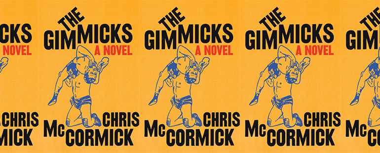 side by side series of the cover of The Gimmicks by Chris McCormick