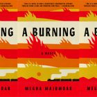 side by side series of the cover of A Burning