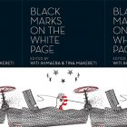 side by side series of the cover of Black Marks on the White Page