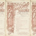side by side series of the cover of a vintage issue of The Indian Lades' Magazine