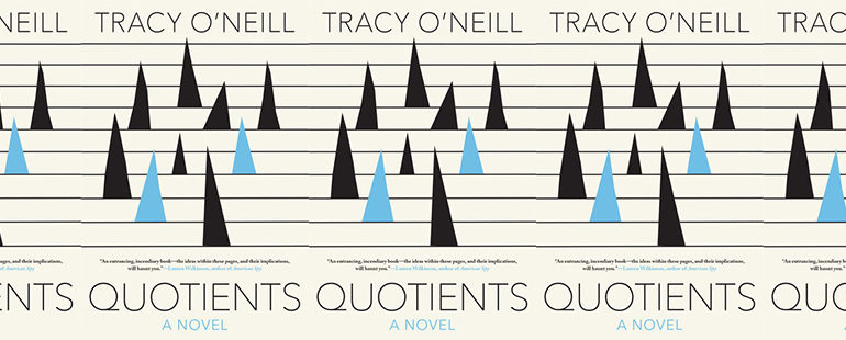 side by side series of the cover of Tracy O'Neill's Quotients