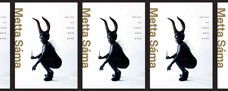 side by side series of the cover of Metta Sáma's Swing At Your Own Risk