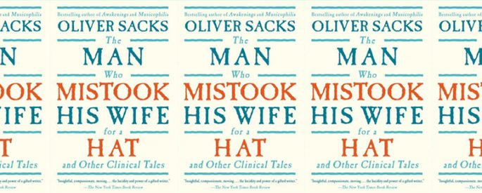 side by side series of the cover of The Man Who Mistook His Wife for a Hat