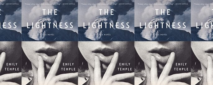 side by side series of the cover of Emily Temple's The Lightness