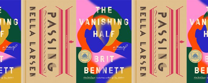 side by side, alternating series of the covers of The Vanishing Half and Passing