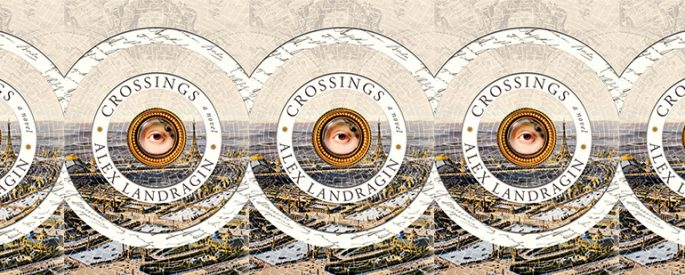 side by side series of the cover of Crossings