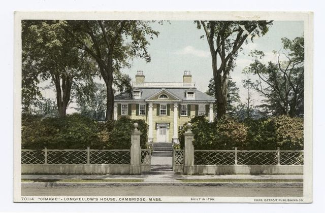 vintage photograph of Longfellow's house