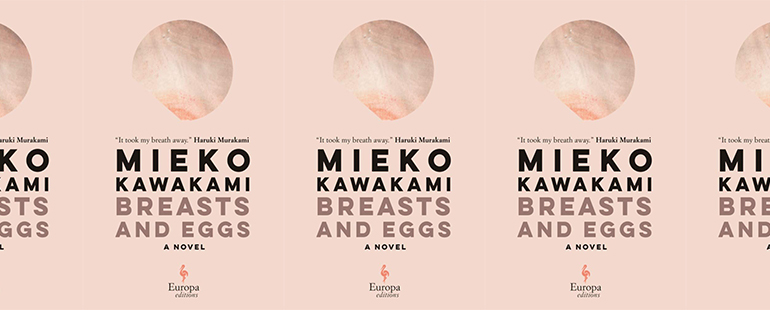 side by side series of the cover of Breasts and Eggs