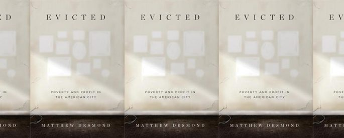 side by side series of the cover of Evicted