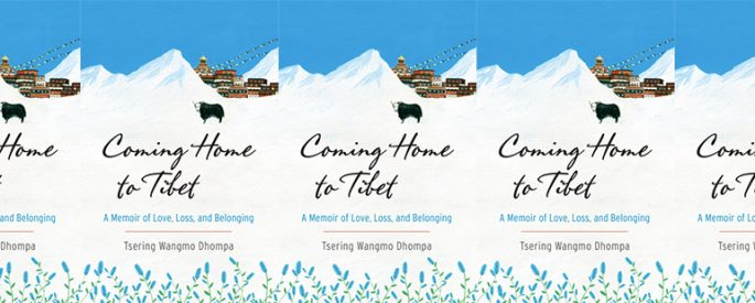 side by side series of the cover of Coming Home to Tibet