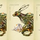side by side series of the cover of Conjure