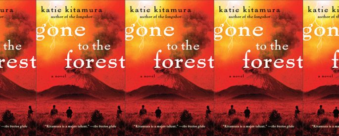 side by side series of the cover of Gone to the Forest by Katie Kitamura