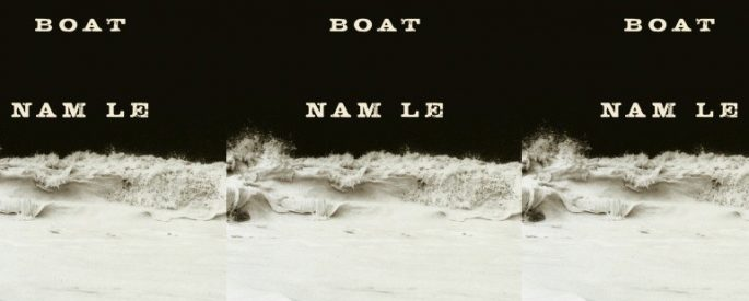 the book cover for The Boat featuring a white wave against a black background