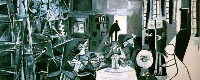 one of Picasso's paintings from the Las Meninas suite (1957)
