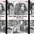 side by side series of the cover of Cronin's Blue Light