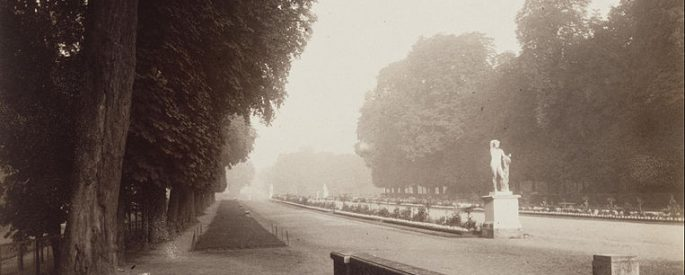 sepia photograph of a promenade