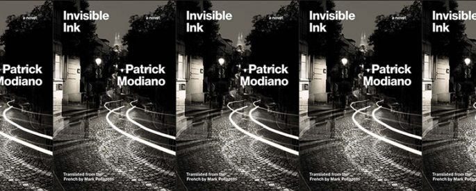 side by side series of the cover of Modiano's Invisible Ink