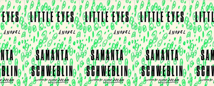 side by side series of the cover of Little Eyes