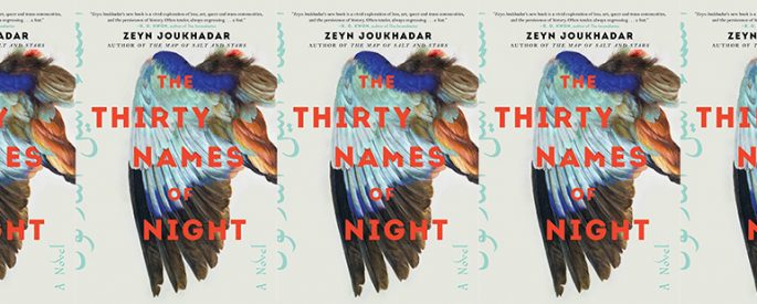 side by side series of the cover of Thirty Names of Night