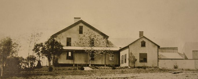 sepia photograph of Herman Melville's Arrowhead residence