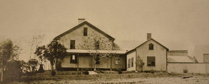 sepia photograph of Herman Melville's Arrowhead residence