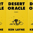 side by side series of the cover of Desert Oracle