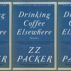 side by side series of the cover of Drinking coffee elsewhere