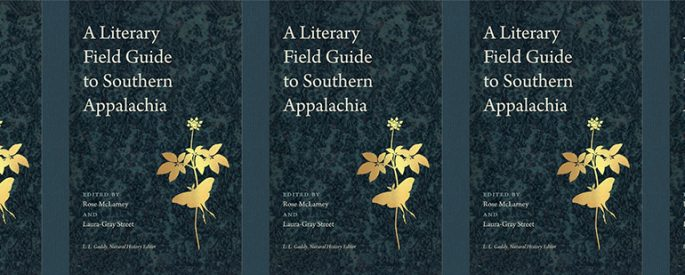 side by side series of the cover of A Literary Field Guide to Southern Appalachia