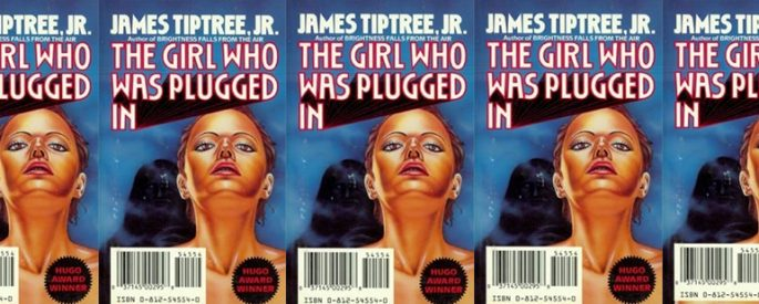 side by side series of the cover of The Girl Who Was Plugged In