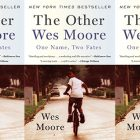 side by side series of the cover of The Other Wes Moore