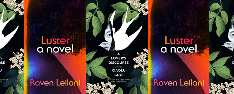 side by side series of the covers of A Lovers Discourse and Luster