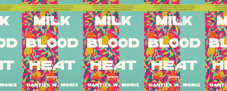 side by side series of the cover of Milk Blood Heat