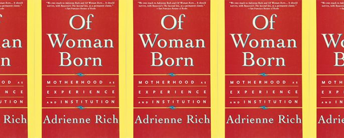 side by side series of the cover of Rich's Of Woman Born