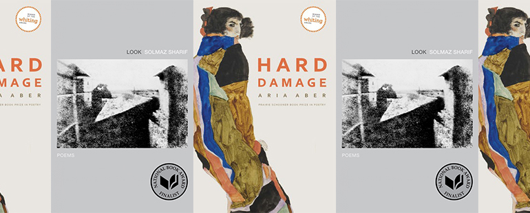 side by side series of the covers of Aber's Hard Damage and Sharif's Look