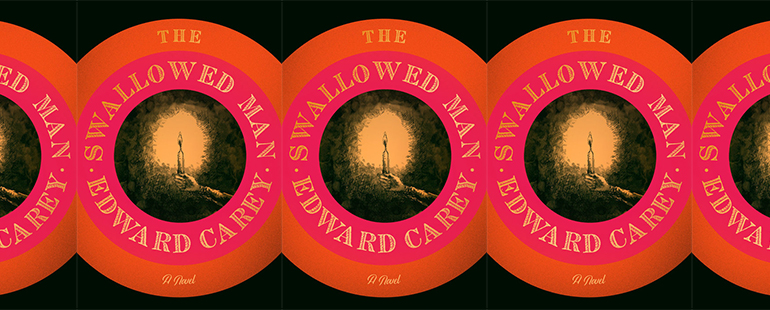 side by side series of the cover of the Swallowed Man by Edward Carey
