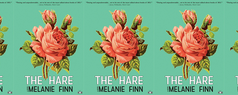 side by side series of the cover of The Hare by Melanie Finn