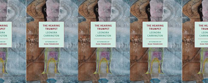 side by side series of the cover of The Hearing Trumpet