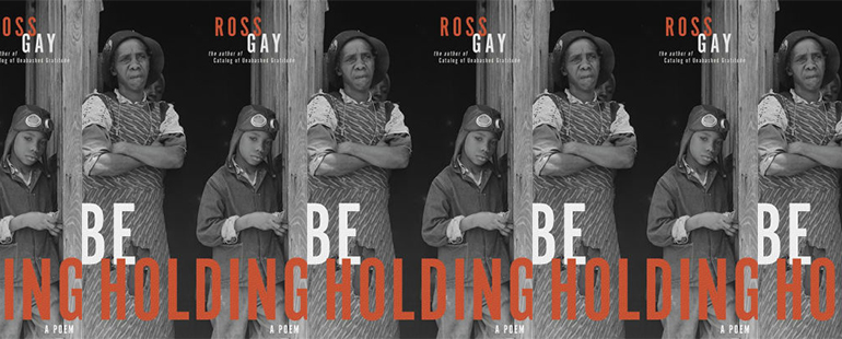 side by side series of the cover of Be Holding by Ross Gay