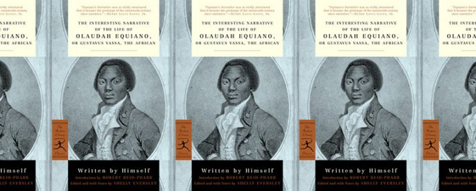 side by side series of the cover of the interesting narrative of the life of oladuah equiano