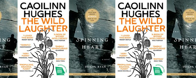 side by side series of the covers of The Wild Laughter and The Spinning Heart