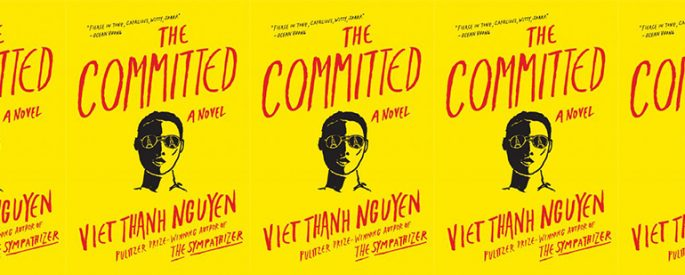 side by side series of the cover of The Committed